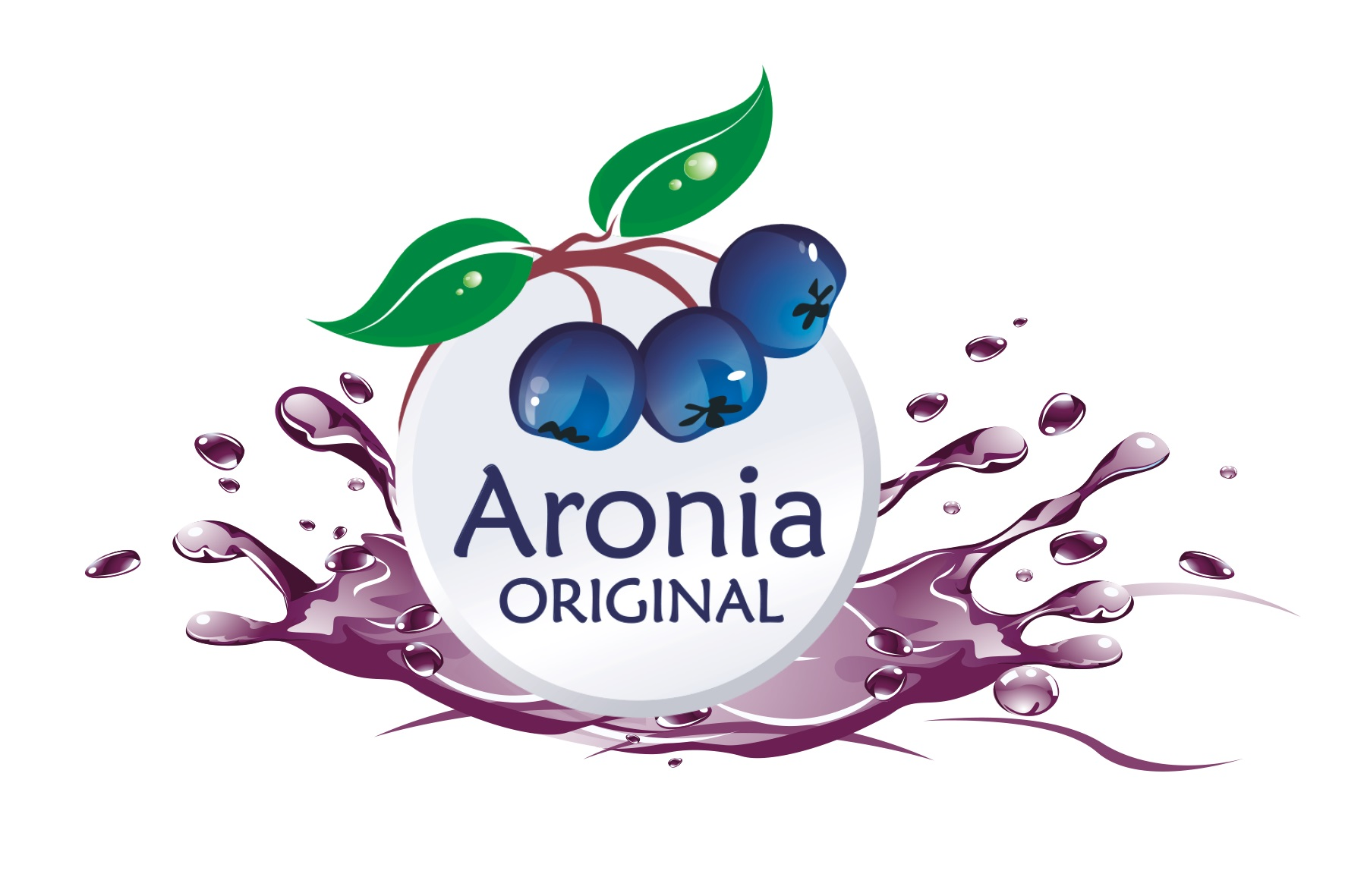 Aronia Original Logo - new with splash of juice